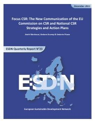 Focus CSR: The New Communication of the EU Commission on ...