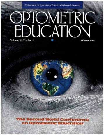 Winter 1994, Volume 19, Number 2 - Association of Schools and ...