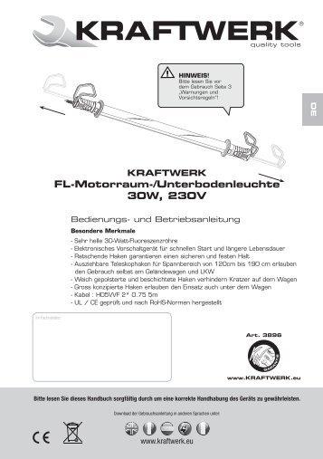 Bedienungsanleitung - Kraftwerk