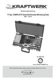 77-tlg. COMPLETO Gewinde-Einsatz-Werkzeug-Satz M5 – M14
