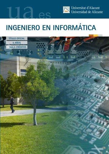 INGENIERO EN INFORMÁTICA - Universidad de Alicante