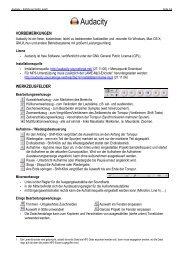 Audacity-Grundlagen [PDF | 101KB]