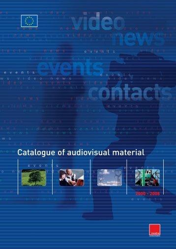 Catalogue of audiovisual material - Mostra