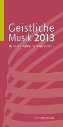 Jahresprogramm 2013 - Lambertusmusik