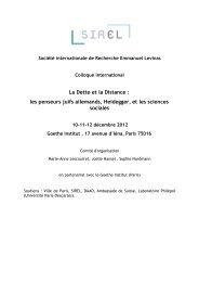 Télécharger le programme du colloque - Société Internationale de ...