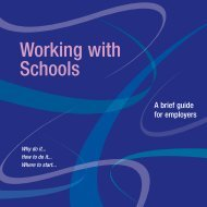 Open the Employers guide to working with schools - Lambeth Council