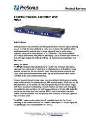 EM MP20 review Sept99 - PreSonus