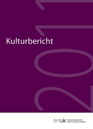 Kulturbericht 2011 - Bundesministerium für Unterricht, Kunst und ...