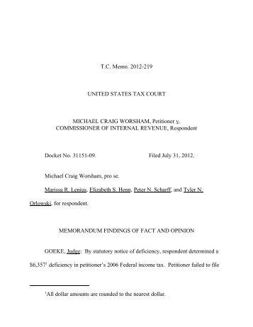 TC Memo. 2012-219 - U.S. Tax Court