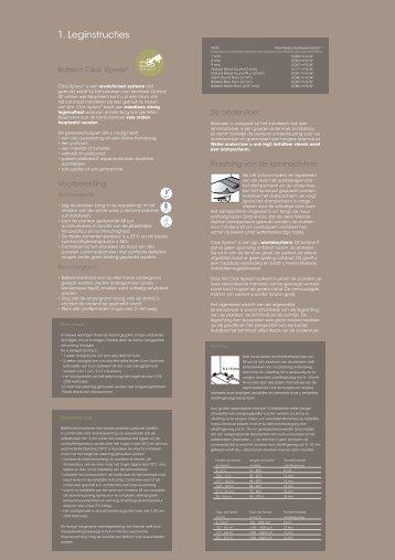 1. Leginstructies - Balterio | Laminate Flooring