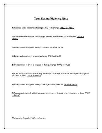 Teen dating quiz