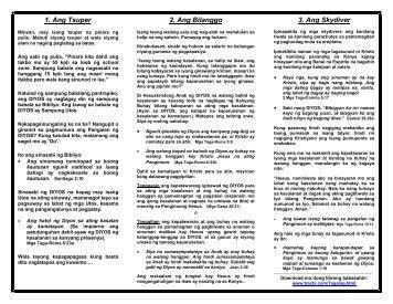 Ang mensahe ng Bibliya sa loob ng isang pahina sa Tagalog - Tracts