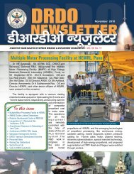 Vol. 30, Issue 11, November 2010 - DRDO
