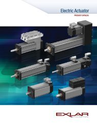 GSX Series Linear Actuators with Integrated Motor - Exlar
