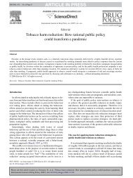 Tobacco harm reduction - Drug Policy Alliance