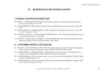 Publications 1963-2002 - Lutheries Acoustique Musique