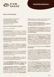 Wissen und Vorbeugen - PZR OASE