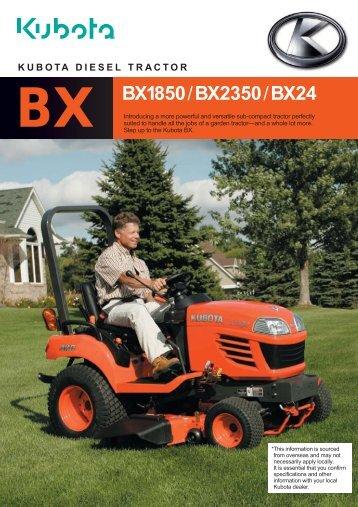 BX BX1850/BX2350/BX24 - Kubota