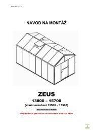 NÁVOD NA MONTÁŽ - LanitGarden