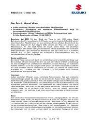 Der Suzuki Grand Vitara - Suzuki-presse.de