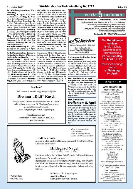 Seite 14 Ein herzliches D