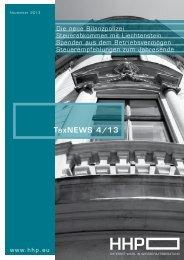 TaxNEWS 4/13 - HHP - Hammerschmied Hohenegger und Partner