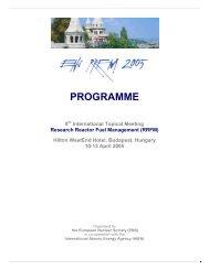 PROGRAMME - European Nuclear Society