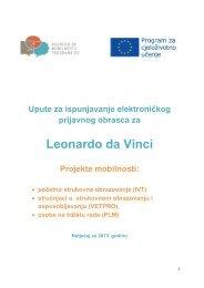 Table of content - Agencija za mobilnost i programe EU