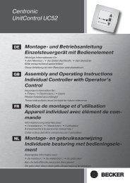 Becker Centronic UnitControl UC52 Anleitung - auf enobi.de