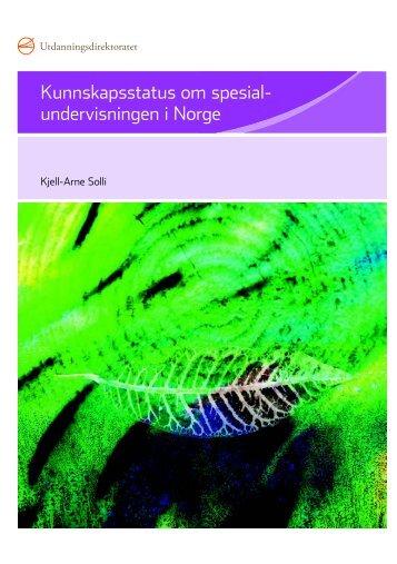 Kunnskapsstatus om spesialundervisningen i Norge - Udir.no