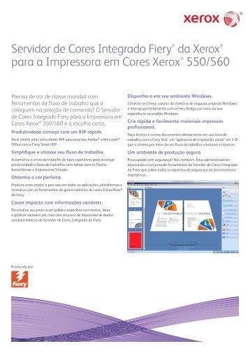 Servidor em cores Xerox Integrated Fiery