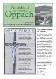 April 2007 Herausgeber: Gemeindeverwaltung - Oppach