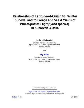 Agropyron - University of Alaska Fairbanks