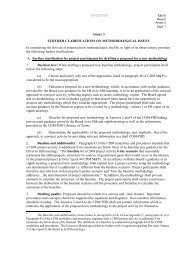 UNEDITED page 1 Annex 3 FURTHER CLARIFICATIONS ... - CDM