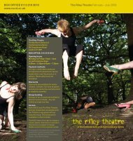 The Riley Theatre February - Northern School of Contemporary Dance