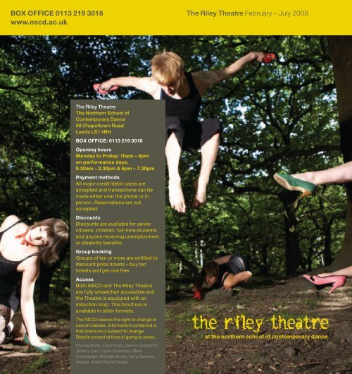 The Riley Theatre February - Northern School of Contemporary