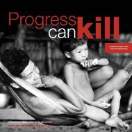 Progress can kill - Survival International