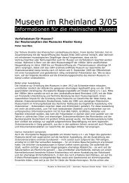 Verfallsdatum für Museen? - RheinischeMuseen.de ...
