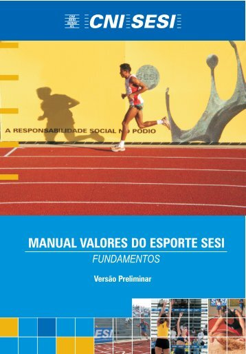 Manual Valores Do Esporte Sesi - Sports In Brazil