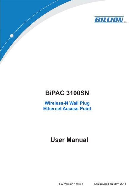 User Manual BiPAC 3100SN - Xpress Platforms