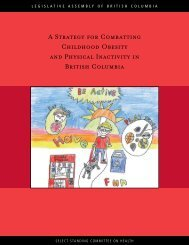 A strategy for combating childhood obesity and physical - Legislative ...