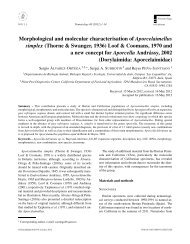 Morphological and molecular characterisation of Aporcelaimellus ...