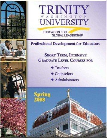 Spring 2008 Schedule - Trinity Washington University