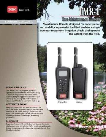 TMR-1 Toro Maintenance Remote