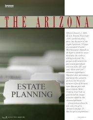 Effective January 1, 2009, the new Arizona Trust Code ... - Lawyers
