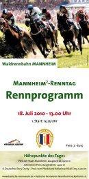 Rennprogramm - Badischer Rennverein Mannheim-Seckenheim e.V.