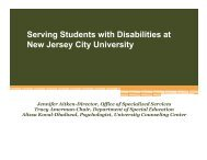 Serving Students With Disabilities at NJCU - New Jersey City ...