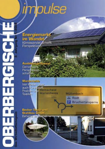 Oberbergische Impulse I / 2008 - und TechnologieCentrum ...