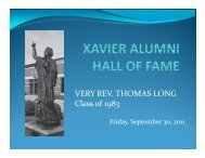 VERY REV. THOMAS LONG Class of 1983 - Xavier High School