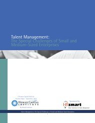 Talent Management: The Special Challenges of ... - Workinfo.com
